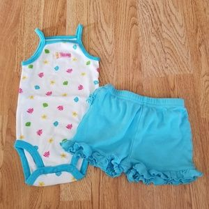 Other - Carters Swimsuit/Garanimals Ruffle Short Outfit